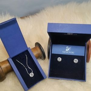Swarovski Angelic Necklace and earrings